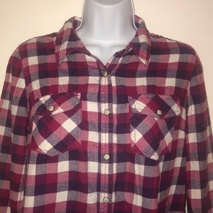 Sonoma Life & Style Plaid Long Sleeve Shirt